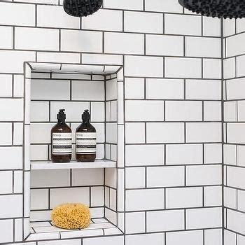 white subway tiles with white grout design ideas