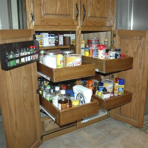 Roll Out Shelves For Kitchen Cabinets by White Pull Out Cabinet Drawers Diy Projects