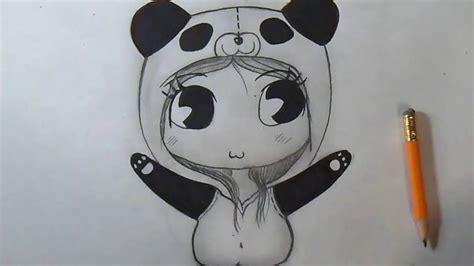 dessin facile fille comment dessiner panda chibi fille