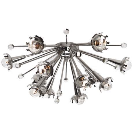 jonathan adler sputnik flush mount nickel ceiling light x1817 lsplus