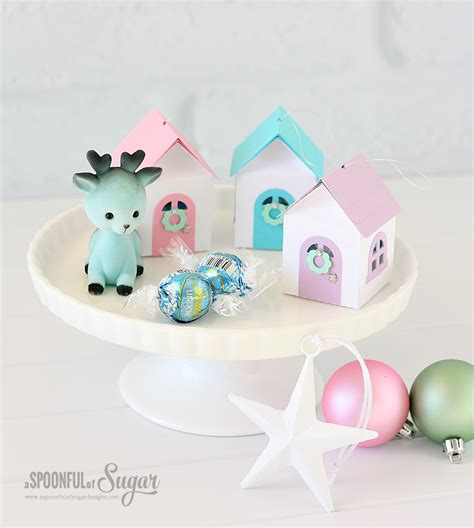 3d christmas house ornaments a spoonful of sugar