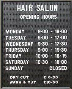 1000 images about menus on pinterest price list barber With changeable letter sign panels