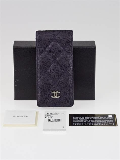 chanel iphone 5 chanel navy blue quilted caviar leather iphone 5 5s phone