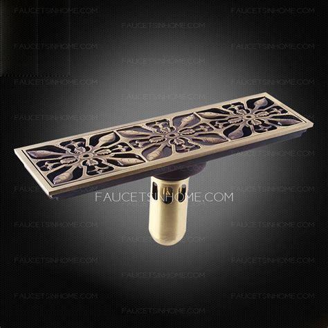 Decorative Antique Bronze Rectangular Shower Drains