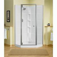 great triangle corner shower STERLING Solitare 29-7/16 in. x 72-1/4 in. Neo-Angle ...