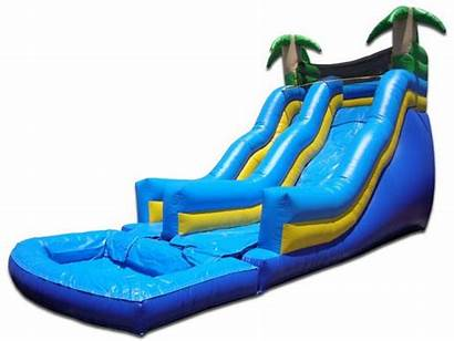 Water Slide Tropical Jumper Bounce Jumpers Houses