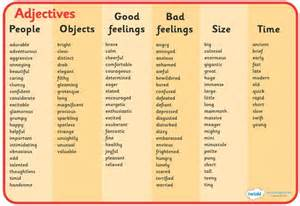 Adjective Words to Describe