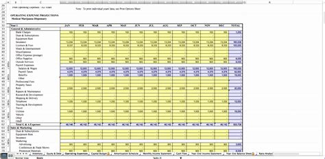 10 Business Financial Plan Template Excel