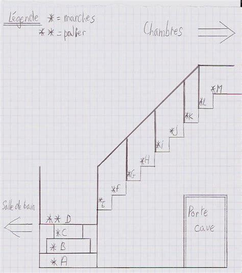 schema d un escalier quart tournant