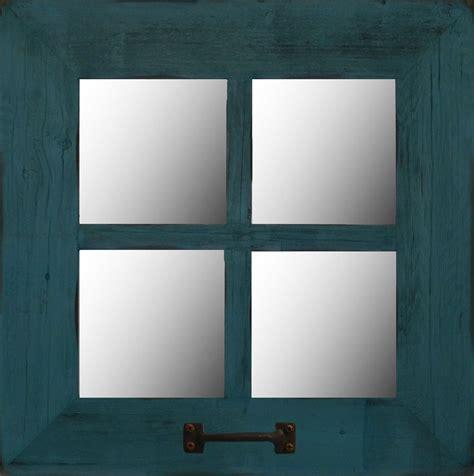 small rustic window mirror  square  pane farmhouse