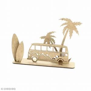 Deco Planche De Surf : d co 3d sur socle monter combi planche de surf et palmier 5 pcs formes en bois creavea ~ Teatrodelosmanantiales.com Idées de Décoration