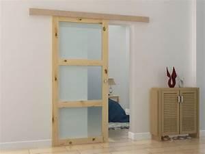 Porte Coulissante Applique : porte coulissante en applique acosta h205 x l93 cm mdf ~ Carolinahurricanesstore.com Idées de Décoration