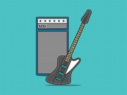 Bass Amp Guitar Animated Electric Play Interactive