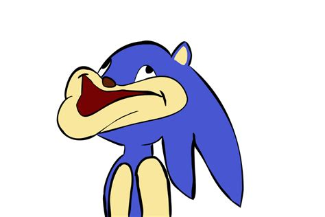 Lazily Drawn Derp Sonic W/ Eye Color By Roflmaster18 On
