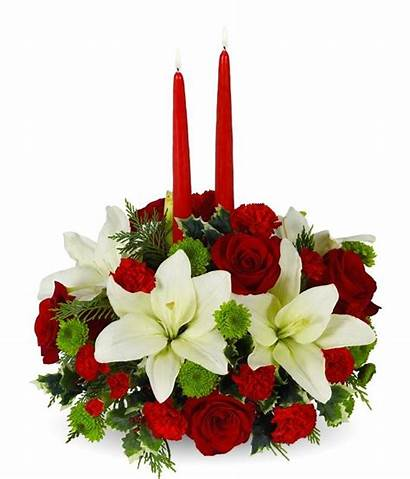 Centerpiece Floral Holiday Flowers Candle Arrangement Rose