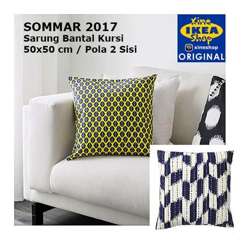 Bantal Kursi Sofa Uk 50x50 Cm jual ikea sommar 2017 sarung bantal kursi 50x50 cmkuning