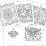 Coloring Jewish Holy Days Mandala Pages Traditionsjewishgifts Hebrew Enlarge sketch template