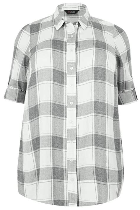 date post jenny template responsive grey white checked shirt with metallic thread plus size