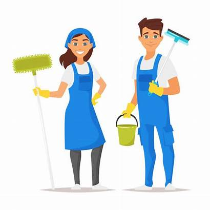 Cleaner Clip Illustrations Vector Cleaning Service Woman