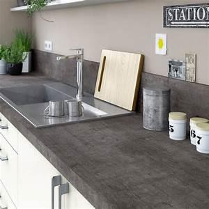 Protege Plan De Travail : plan de travail stratifi steel noir mat x cm ~ Premium-room.com Idées de Décoration