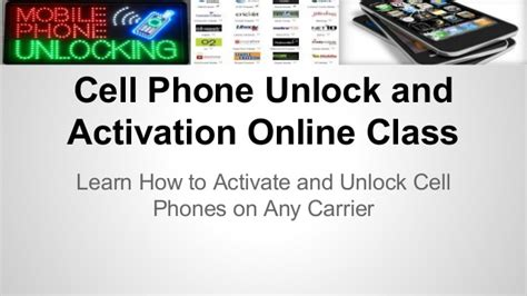 how to activate a mobile phone cell phone unlock and activation class