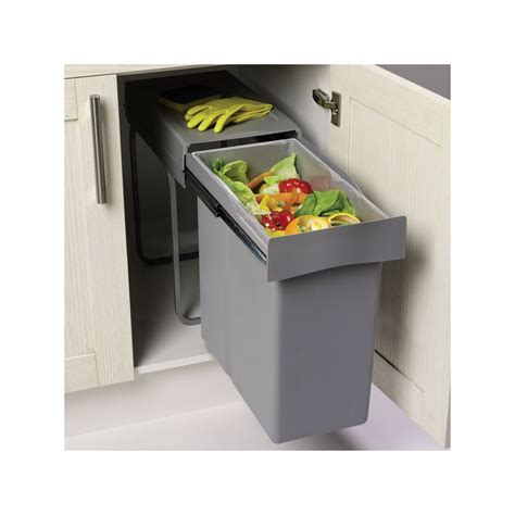 poubelles de cuisine encastrables poubelle encastrable coulissante 1 bac 40 litres