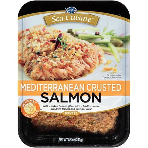 ea cuisine sea cuisine mediterranean crusted salmon 8 5 oz from cub