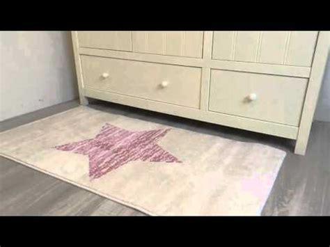 vintage vloerkleed babykamer met roze ster youtube