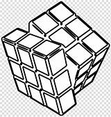 Cube Clipart Coloring Ice Transparent Webstockreview Rubiks Cubes sketch template