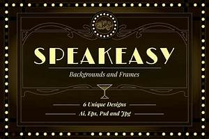 Speakeasy Backgrounds and Frames by wingsart
