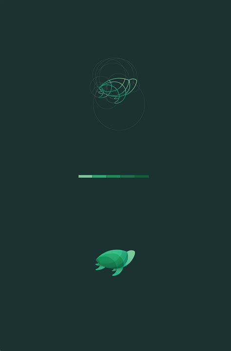 beautiful colorful animal logos based on circular geometry