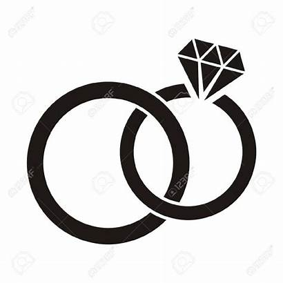 Ring Clipart Engagement Rings Silhouette Graphics Clipartion