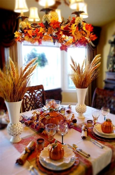 Dining Room Table Decorating Ideas For Fall by Diy Welcome The Fall With Autumn Leaves In Home D 233 Cor