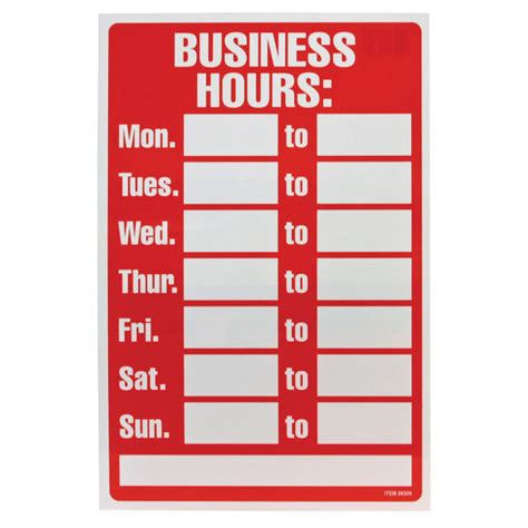 hours signs by experience signs madison huntsville