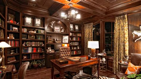 Home Library : Luxury Home Library Room Decorating Ideas-youtube