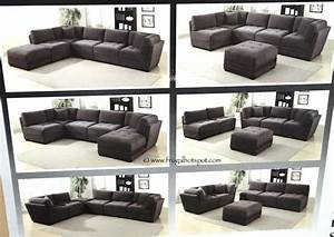 costco 6 piece modular fabric sectional 89999 frugal With 6 piece sectional sofa costco