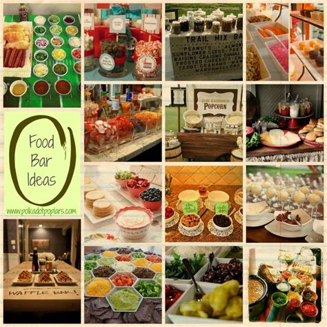 snack bar cuisine food bar ideas polka dot poplars