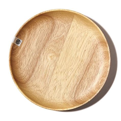 serving tray food wood round trays platter natural wooden plate bar dinnerware tea coolest