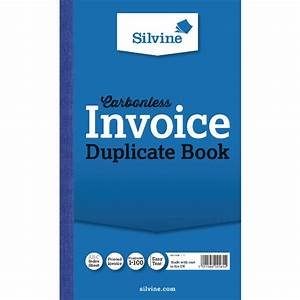 Silvine carbonless 1 100 invoice duplicate book pack of 6 for Duplicate invoice books carbonless