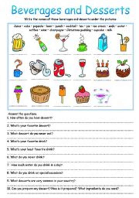 teaching worksheets desserts