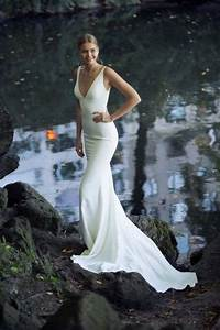 Height Measurement Chart Ivory Beach Mermaid Wedding Dresses Deep V Neck