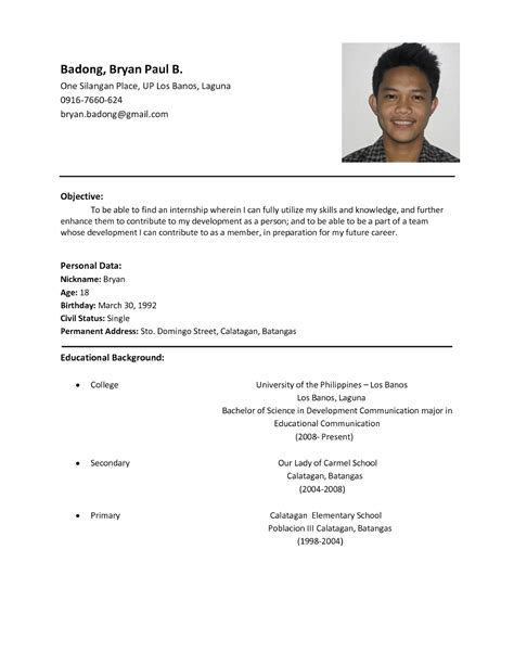 resume for students format sample resume format for students sample resumes
