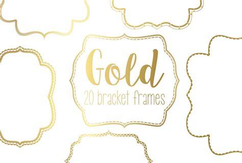 Gold Bracket Frame Bundle