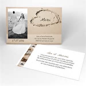 carte de mariage carte de remerciement la plage mariage rectangle simple