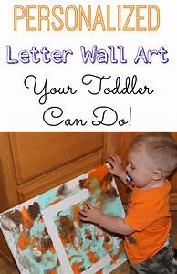 painting activity for toddlers personalized letter wall art With personalized letter art