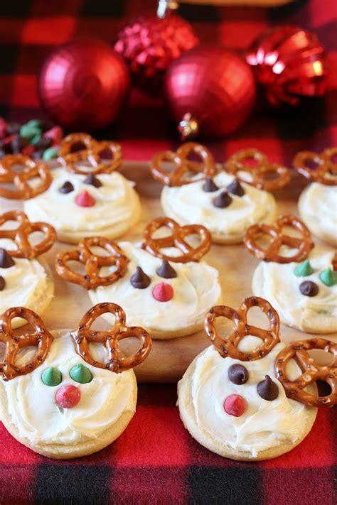 adorable cookie recipes reindeer cookies recipe reindeer cookies easy 3316