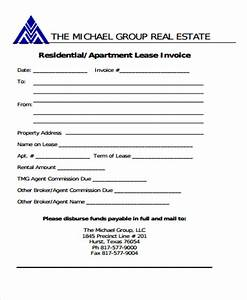 8 real estate invoice templates word pdf free With commercial real estate commission invoice