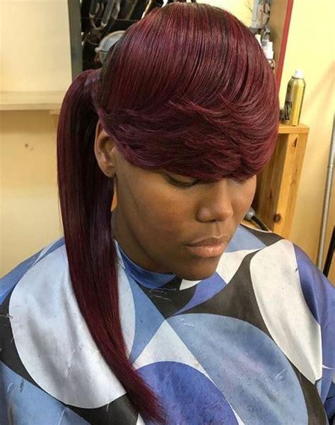 classy black ponytail hairstyles