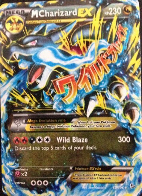 carta pokemon mega charizard  xy flashfire ingles