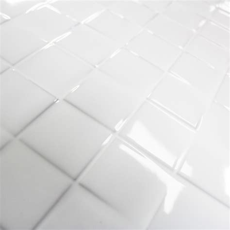 carrelage mosaique cuisine carrelage mural cubi white glossy carrelage mosaique blanc